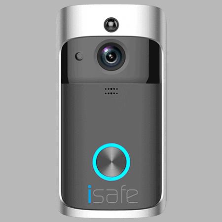 פעמון אינטרקום ומצלמת אבטחה Isafe + מנעול חכם לדלת כניסה לוק 8200 - lock 8200
