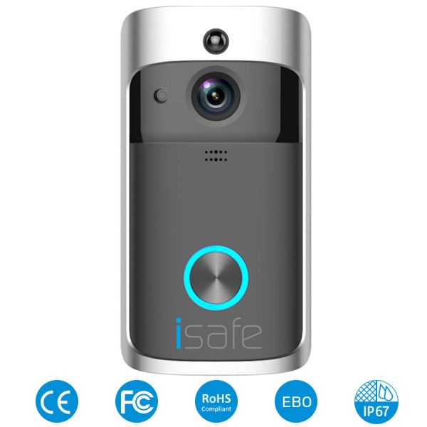 פעמון חכם מצלמת אבטחה