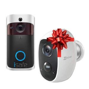 קנה פעמון חכם של ISAFE וקבל מצלמות רשת אלחוטית על סוללה EZVIZ C3A