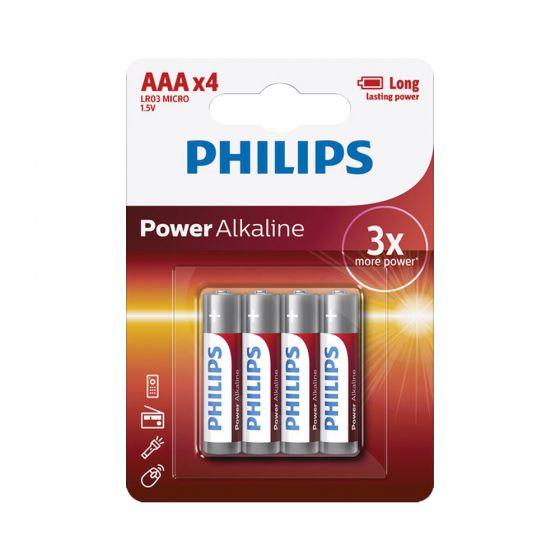 סוללות AAA פיליפס סוללה חזקה במיוחד philips לא נטענות