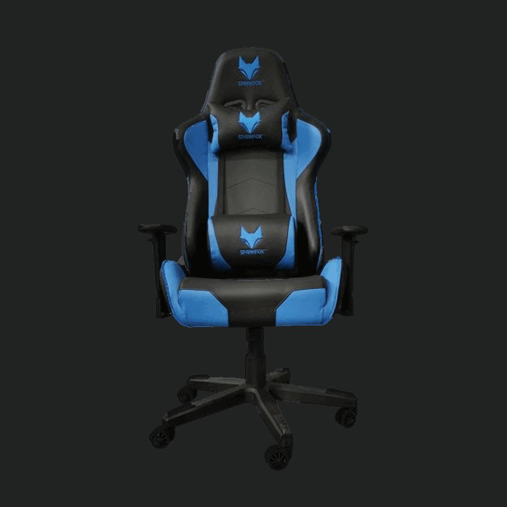 מושב גיימינג כיסא מחשב מקצועי לגיימרים SPARKFOX GC60P כחול