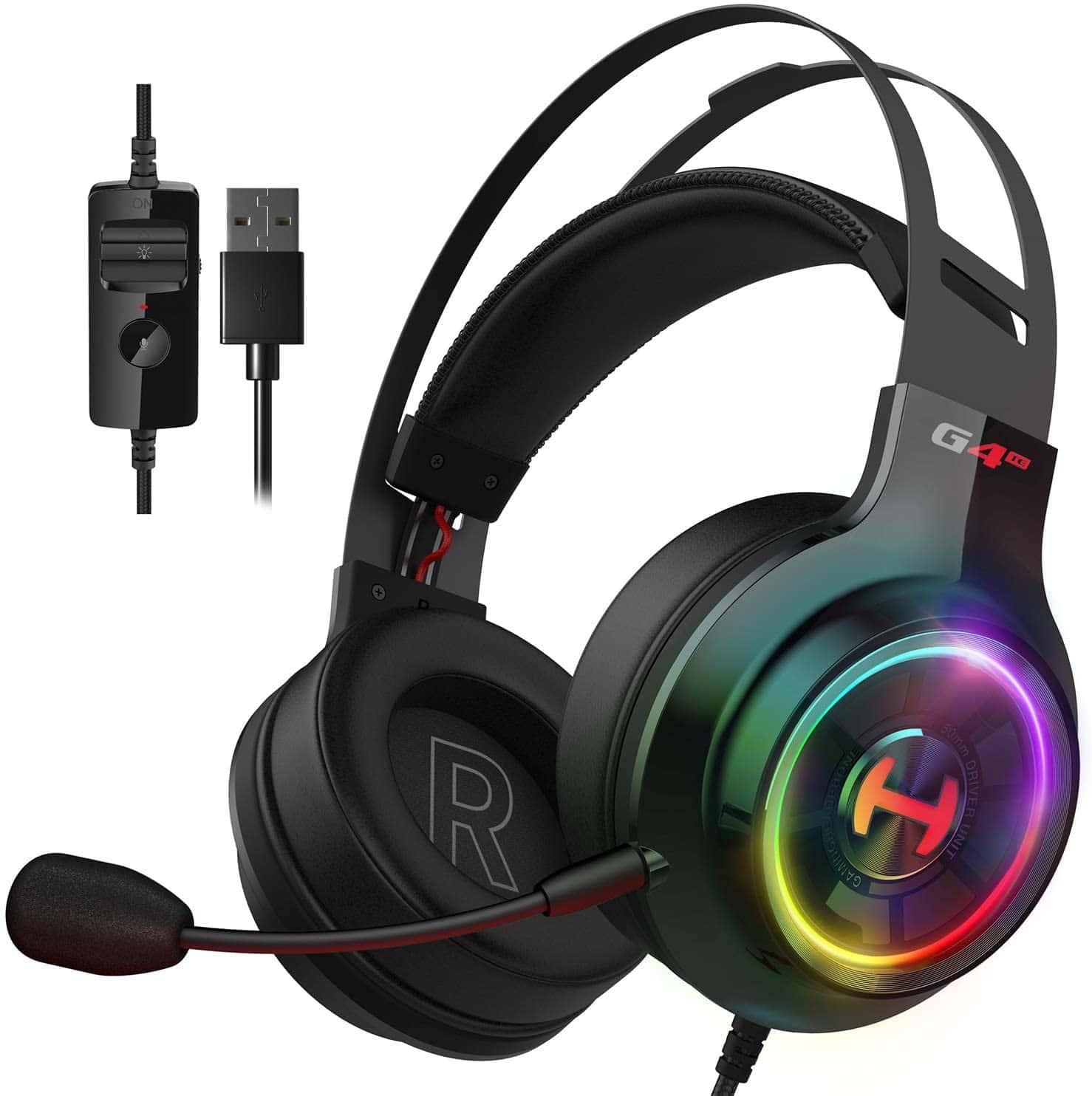 אוזניות גיימינג מקצועיות למחשב Edifier G4TE Gaming 7.1 Headset 50mm USB Black