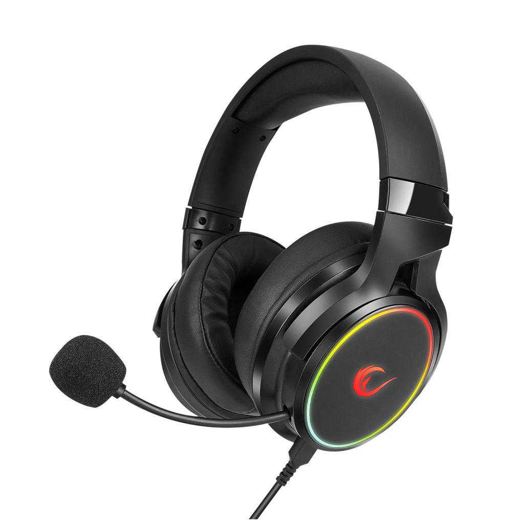אוזניות גיימינג מקצועיות למחשב עם מיקרופון  Rampage RM-K81 DELUXE