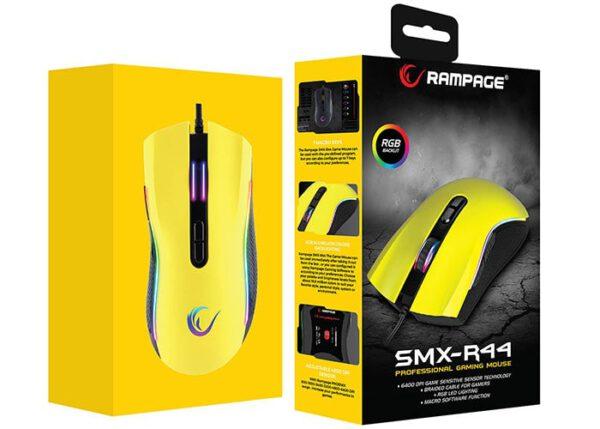 עכבר גיימינג למחשב ציוד גיימרים Rampage SMX-R44