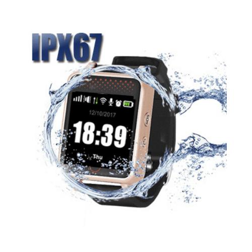 לחצן מצוקה לקשישים וילדים כפתור איתור צמיד מבוסס GPS וסלולאר מוגן מים