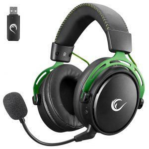 אוזניות גיימינג מקצועיות אלחוטיות למחשב עם מיקרופון Rampage RM-W1 FURY